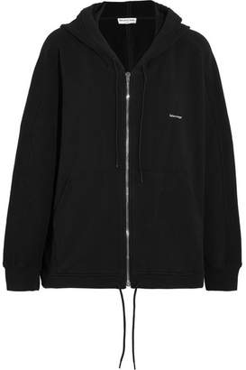 Balenciaga - Cocoon Oversized Stretch-cotton Hoodie - Black