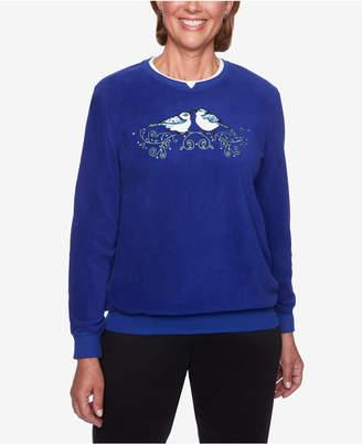 Alfred Dunner Applique Anti-Pill Rhinestone-Embellished Sweatshirt
