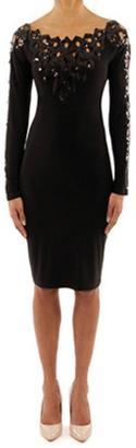 Joseph Ribkoff Sequin Bib Dress $298 thestylecure.com