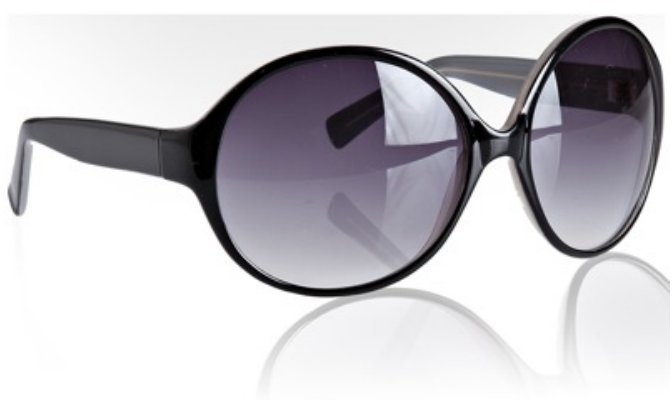 Cole Haan black acrylic round oversized sunglasses