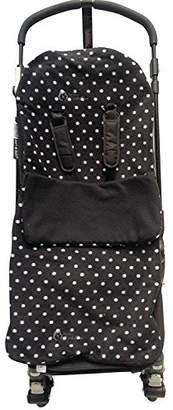 Britax Snuggle Footmuff / Cosy Toes Compatible with Buggy Smart Agile Dual Mobile Bob - Polka Dot Black
