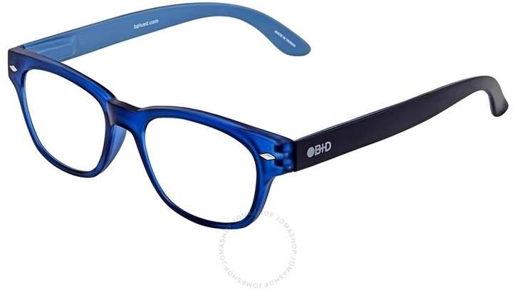 B+D Super Bold Reader Matt Blue Eyeglasses