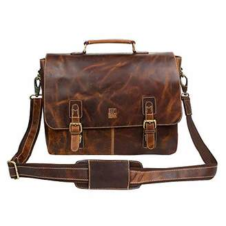 Leather Laptop Messenger Bag for Men - Handmade Laptop Briefcase Satchel by Leather Centric