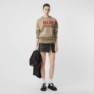 Burberry Horseferry Intarsia Merino Wool Blend Sweater