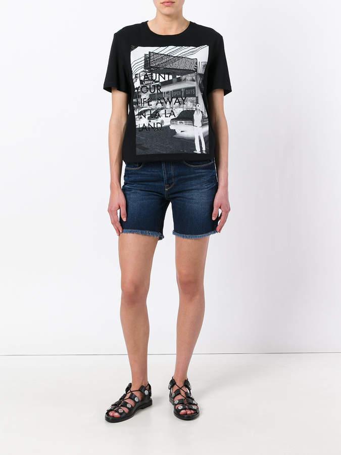 Each X Other denim frayed shorts