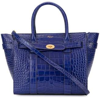 dc4fa108071c Mulberry Mini Zipped Bayswater Croc Print bag