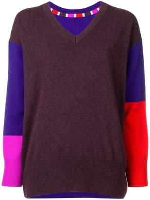 Tsumori Chisato oversized colour block sweater
