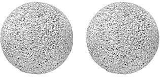 Italian Silver Textured Ball Post Earrings