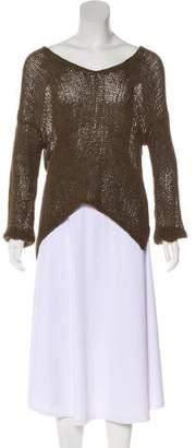 Helmut Lang V-Neck High-Low Sweater