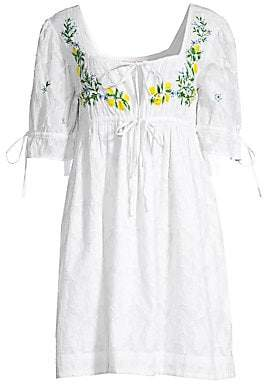 Banjanan Women's Embroidered Cotton Dress