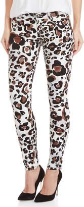 Gaudi' Gaudi Leopard Print Skinny Jeans