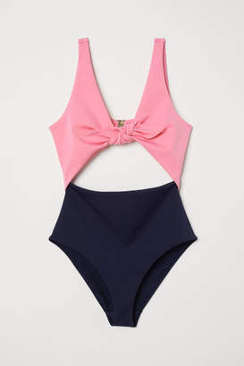 H&M Cut-out Swimsuit - Pink