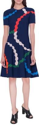 Akris Punto Memphis Fit & Flare Jacquard Dress