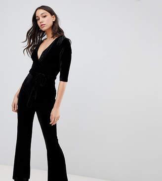 298ed0fd5297 Parisian Tall velvet jumpsuit with belt