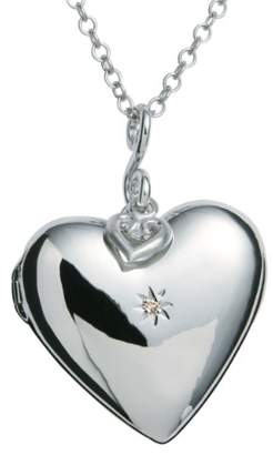 Hot Diamonds Starry Heart Silver and Diamond Pendant of 76cm