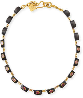 Ashley Pittman Zambarau Dark Horn Station Necklace