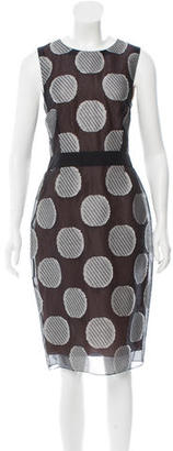 Vera Wang Sleeveless Polka Dot Dress w/ Tags $295 thestylecure.com