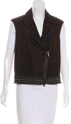 Haute Hippie Embellished Suede Vest w/ Tags