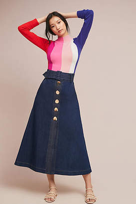 Paper London Wallace Belted Denim Skirt