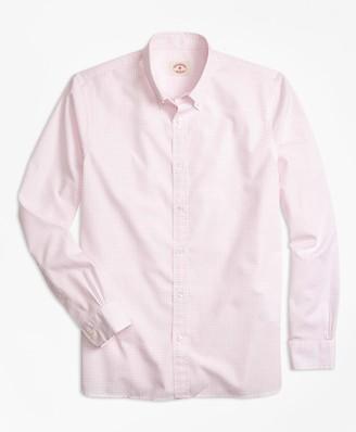 Brooks Brothers Nine-to-Nine Windowpane Plaid Shirt