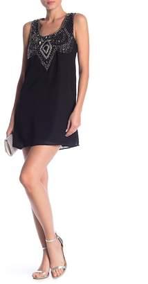 Angie Beaded Design Mini Dress