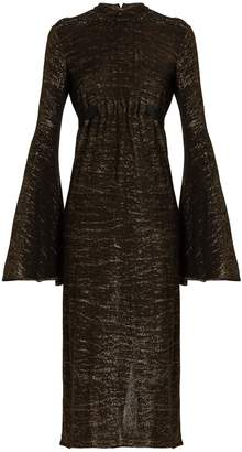 Ellery Gasp ruched bell-sleeved dress