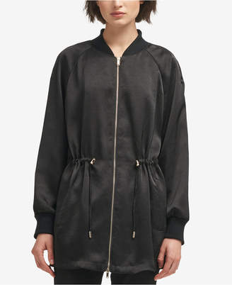 DKNY Long Bomber Jacket