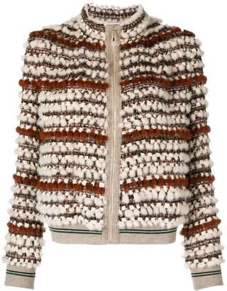 Cara Mila Hailey knitted mink jacket