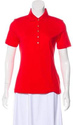 Tory Burch Snap-Up Polo Top w/ Tags
