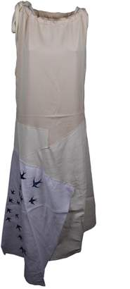J.W.Anderson Swallow Embroidered Long Dress