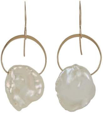 Melissa Joy Manning Gold Keshi Pearl Drop Earrings