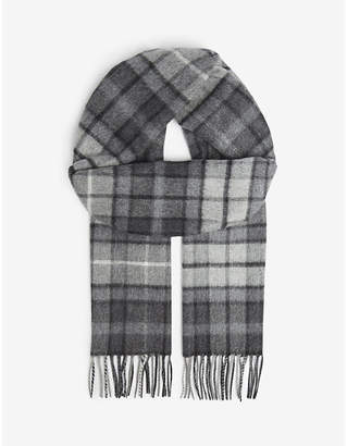 Johnstons Tartan cashmere scarf