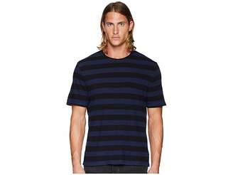 Vince Striped Linen Crew Neck T-Shirt