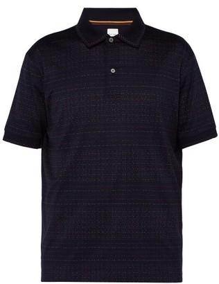 Paul Smith Dot Cotton Pique Polo Shirt - Mens - Navy