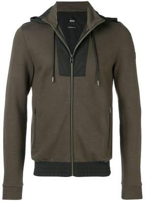 HUGO BOSS front zip hoodie