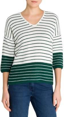 Olsen Colour Love V-Neck Stripe Sweater