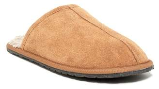 Minnetonka Stuart Center Seam Scuff Faux Fur Slipper