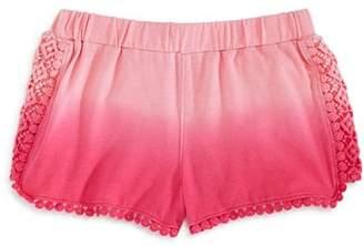 Design History Girls' Dip-Dyed Crochet-Trim Shorts - Little Kid