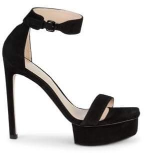 823b56ee813 Stuart Weitzman Black Suede Upper Women s Sandals - ShopStyle