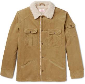 Battenwear Slim-Fit Faux Shearling-Trimmed Cotton-Corduroy Jacket