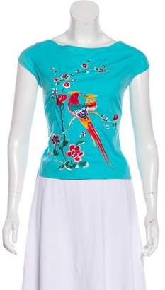 Kenzo Embroidered Short Sleeve Top