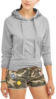 Self Esteem Juniors' Sequined Pullover Hoodie