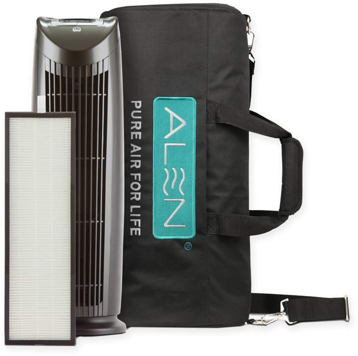 Alen T500 Tower Air Purifier with Travel Bag in Silver/Black