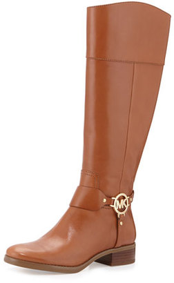 MICHAEL Michael Kors Fulton Harness Leather Riding Boot, Luggage $295 thestylecure.com