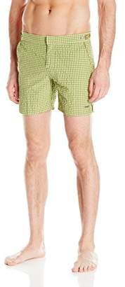 Parke & Ronen Men's Catalonia Gingham Check 6-Inch Swim Short