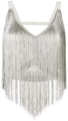 Nina Ricci fringed crop top