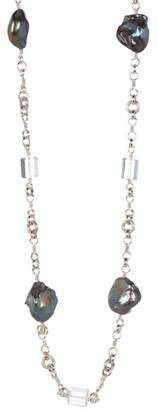 Stephen Dweck Baroque Pearl & Rock Crystal Necklace