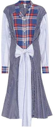 Loewe Plaid and striped shirt dress