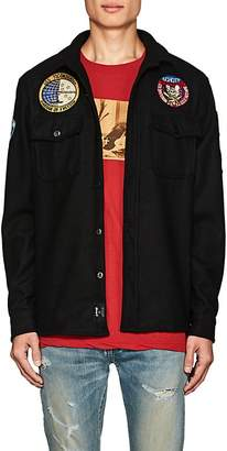 Schott NYC Perfecto Brand by PERFECTO BRAND BY MEN'S APPLIQUÉD & EMBROIDERED WOOL-BLEND SHIRT JACKET