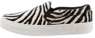 Celine Zebra Print Slip-On Sneakers